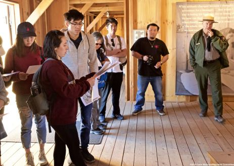 Block 14 (1942 barrack) where students learned about living conditions at Manzanar during World War II.