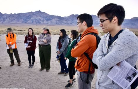 Ending Day 1 of the 2019 Katari trip at the Manzanar cemetery.