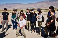 Day 2 at the Manzanar cemetery where students learned about the first organized Manzanar Pilgrimage in 1969, about the activism that has kept it going for 50 years and about how critical that same kind of activism is today.